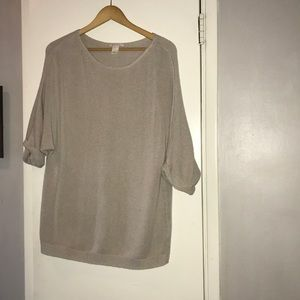 H&M Basic Tan L Sweater